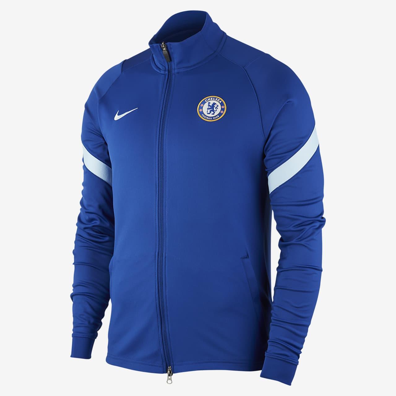Chelsea FC Strike Men's Knit Football Track Jacket