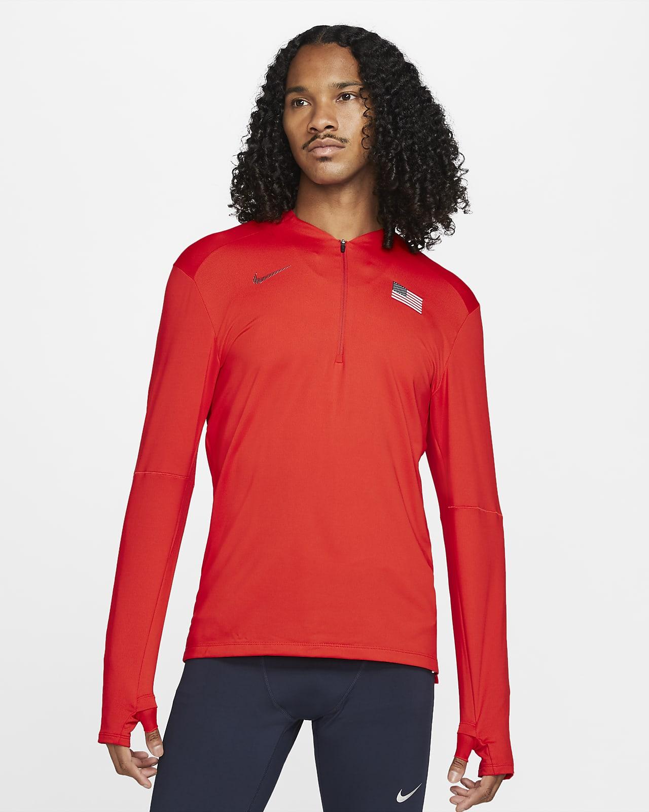 Nike Dri-FIT Team USA Element Men's 1/2-Zip Running Top