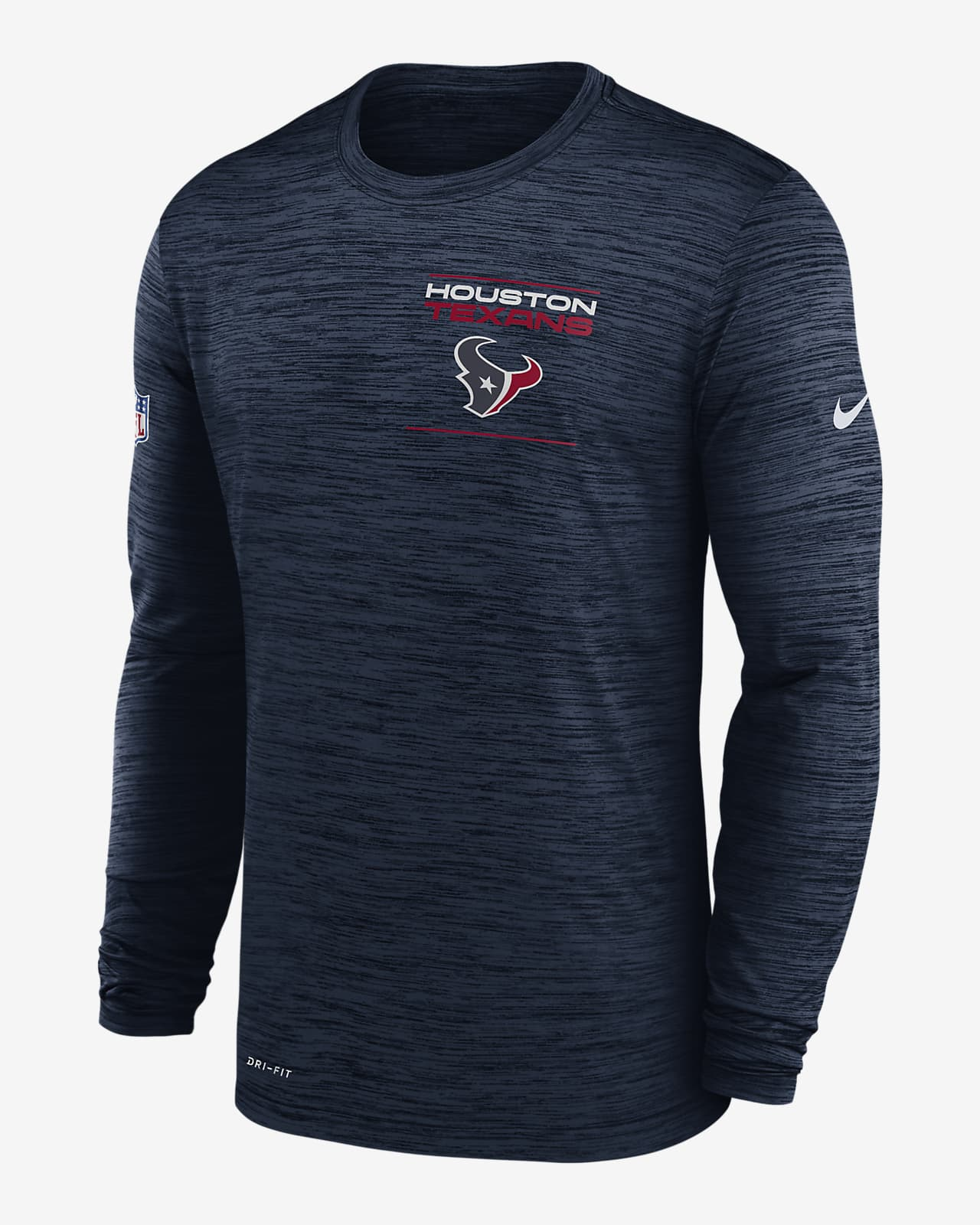 Nike Dri-FIT Sideline Velocity Legend (NFL Houston Texans) Men's Long-Sleeve T-Shirt