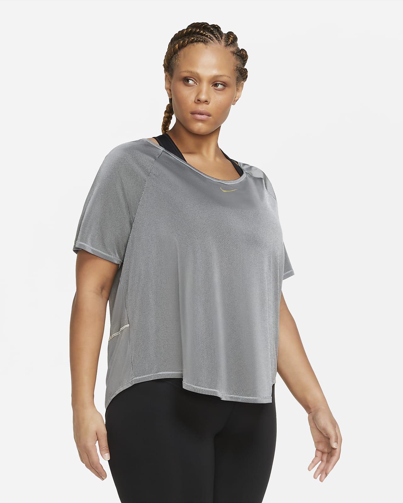 Nike Icon Clash Women's Short-Sleeve Running Top (Plus size)