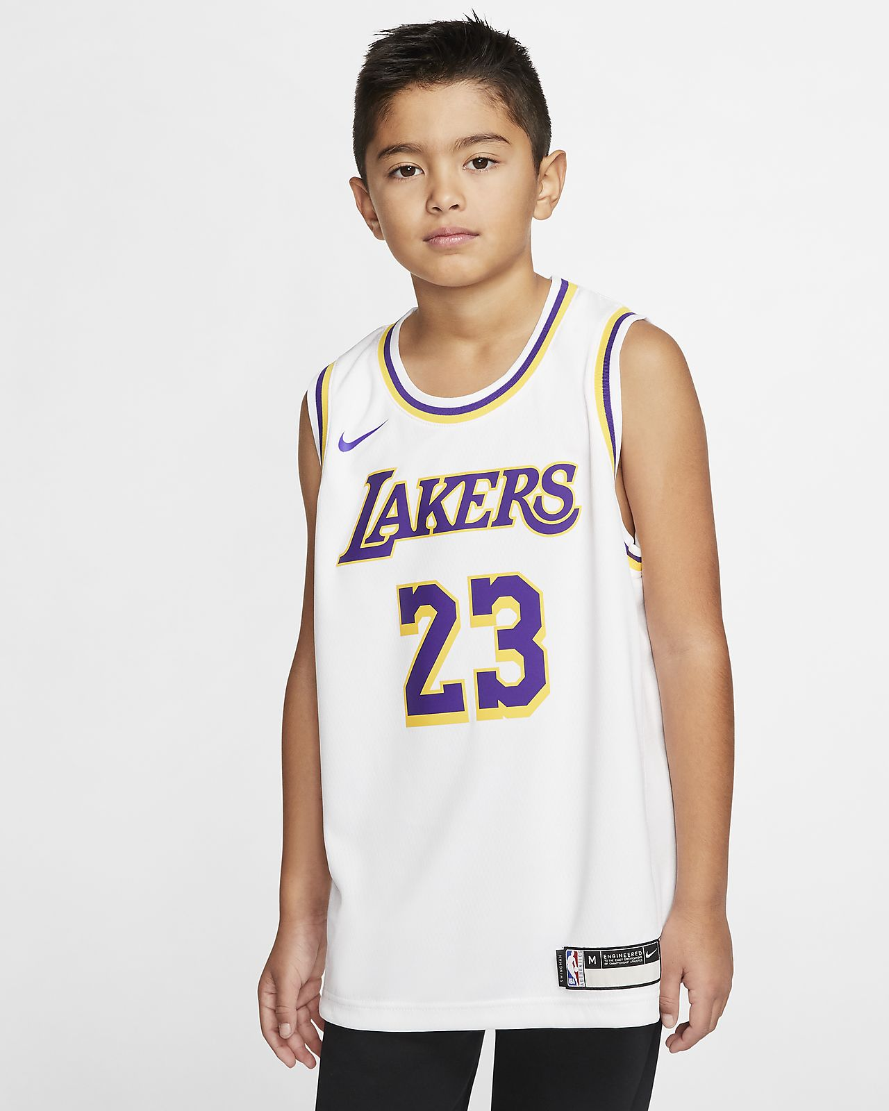 LeBron James Association Edition Swingman Jersey (Los Angeles Lakers) Big Kids' NBA Jersey