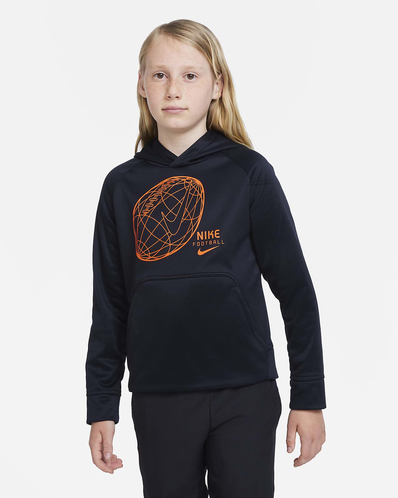 Sudadera con capucha de fútbol para niño talla grande Nike Therma