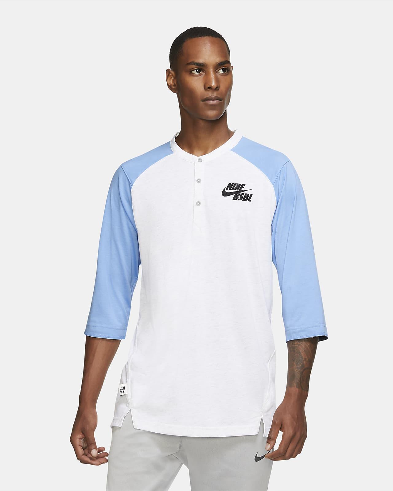 Camiseta de béisbol de manga 3/4 para hombre Nike Dri-FIT Flux