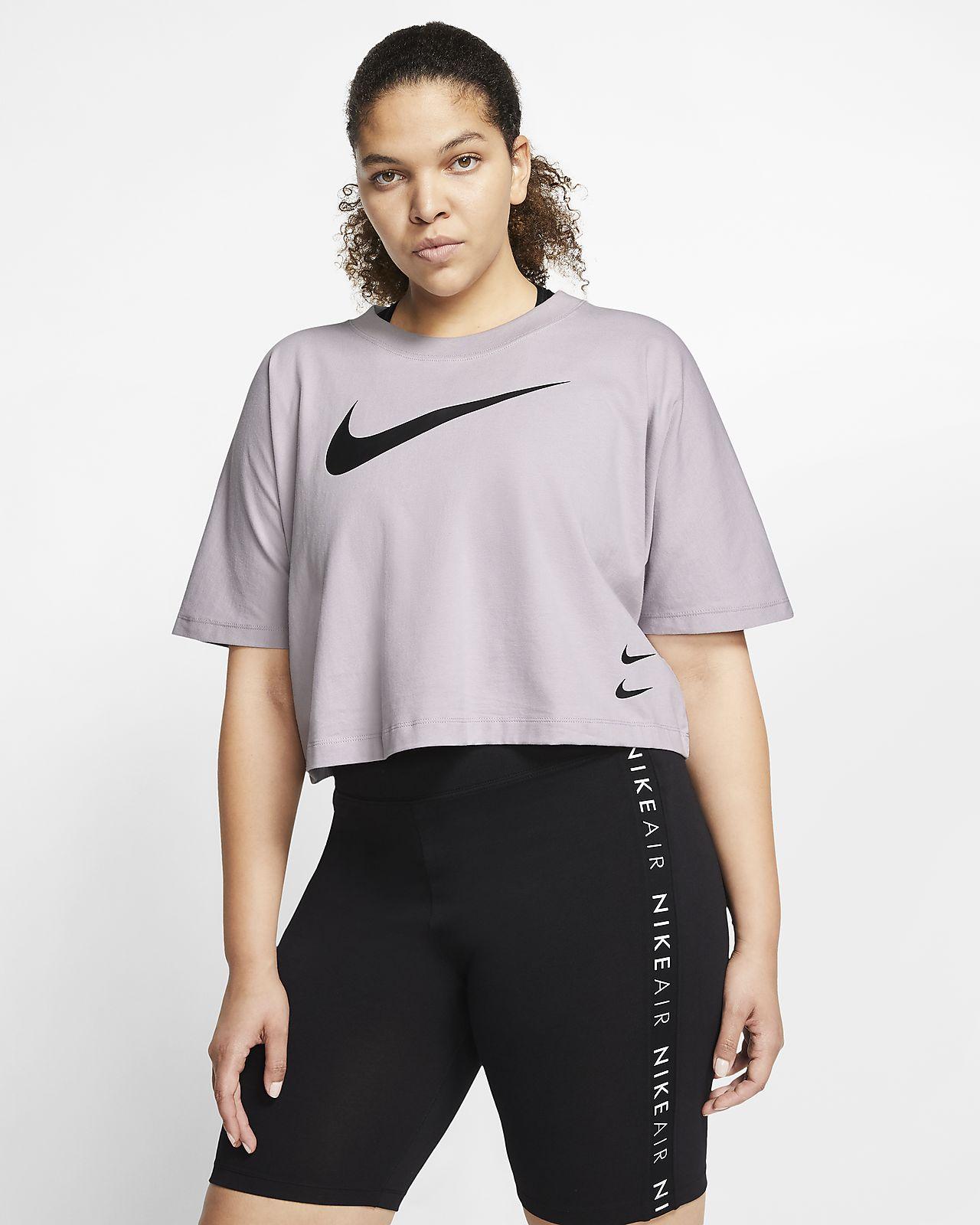 Nike Sportswear Swoosh Kurzarmoberteil für Damen (große Größe)