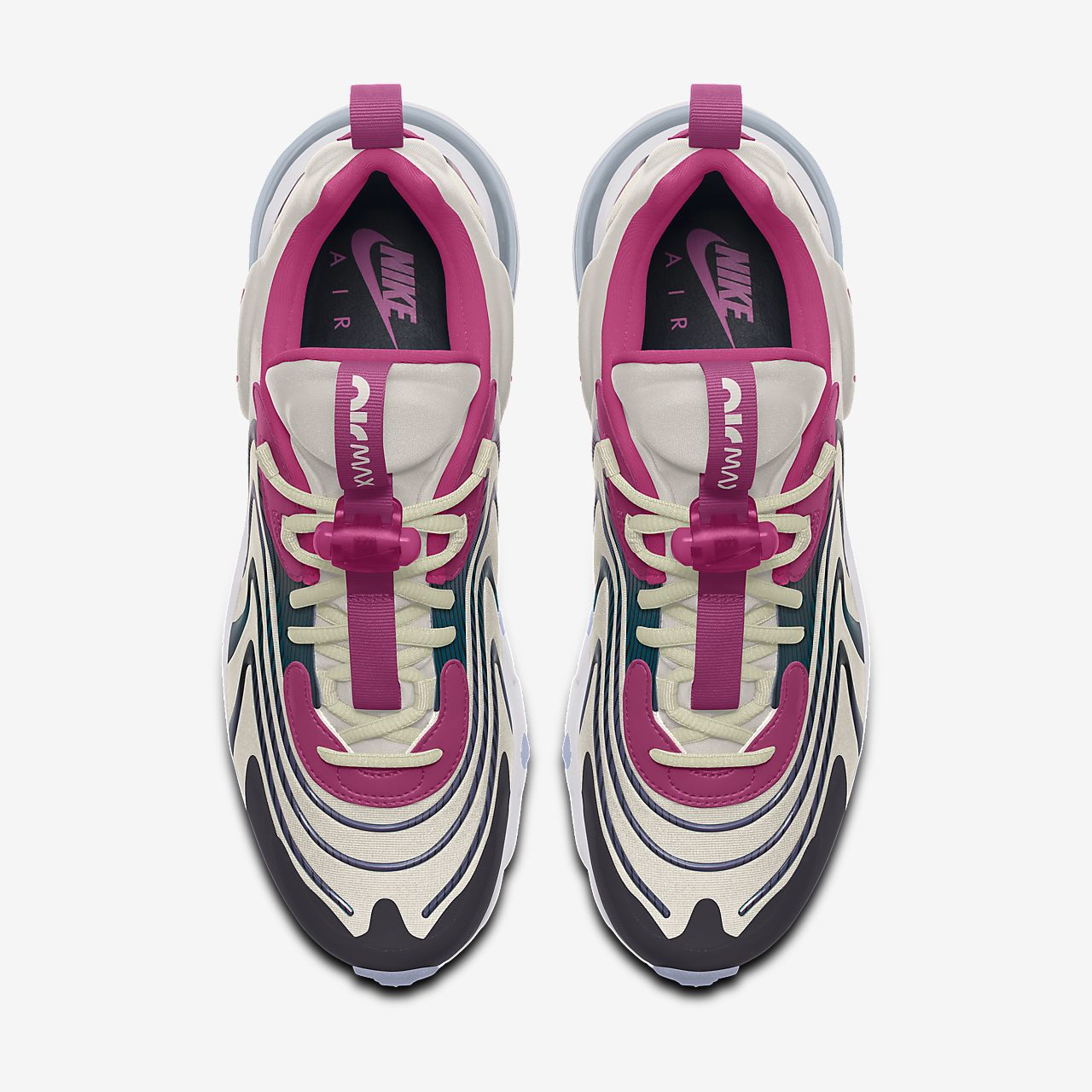 Nike Air Max 270 React ENG Premium By You Custom Lifestyle Shoe