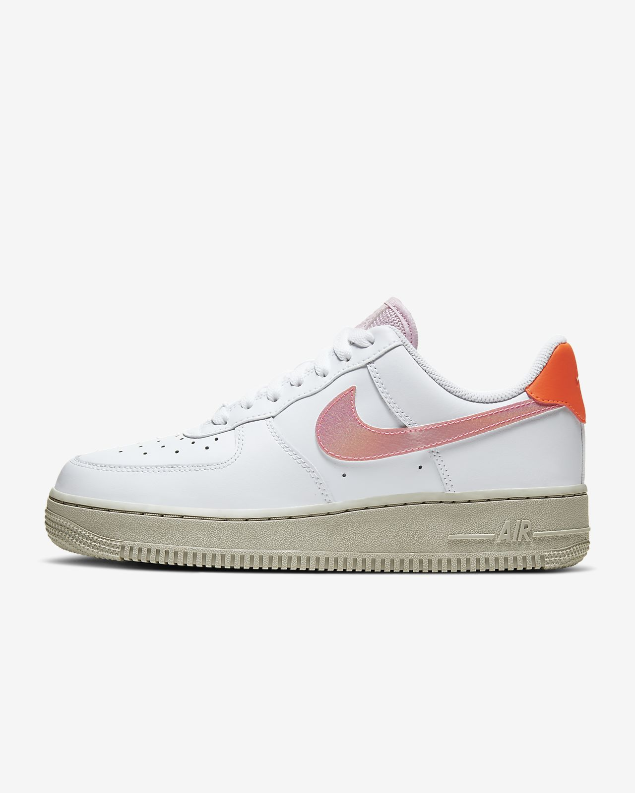 nike air force 1 07 femme blanche et rouge