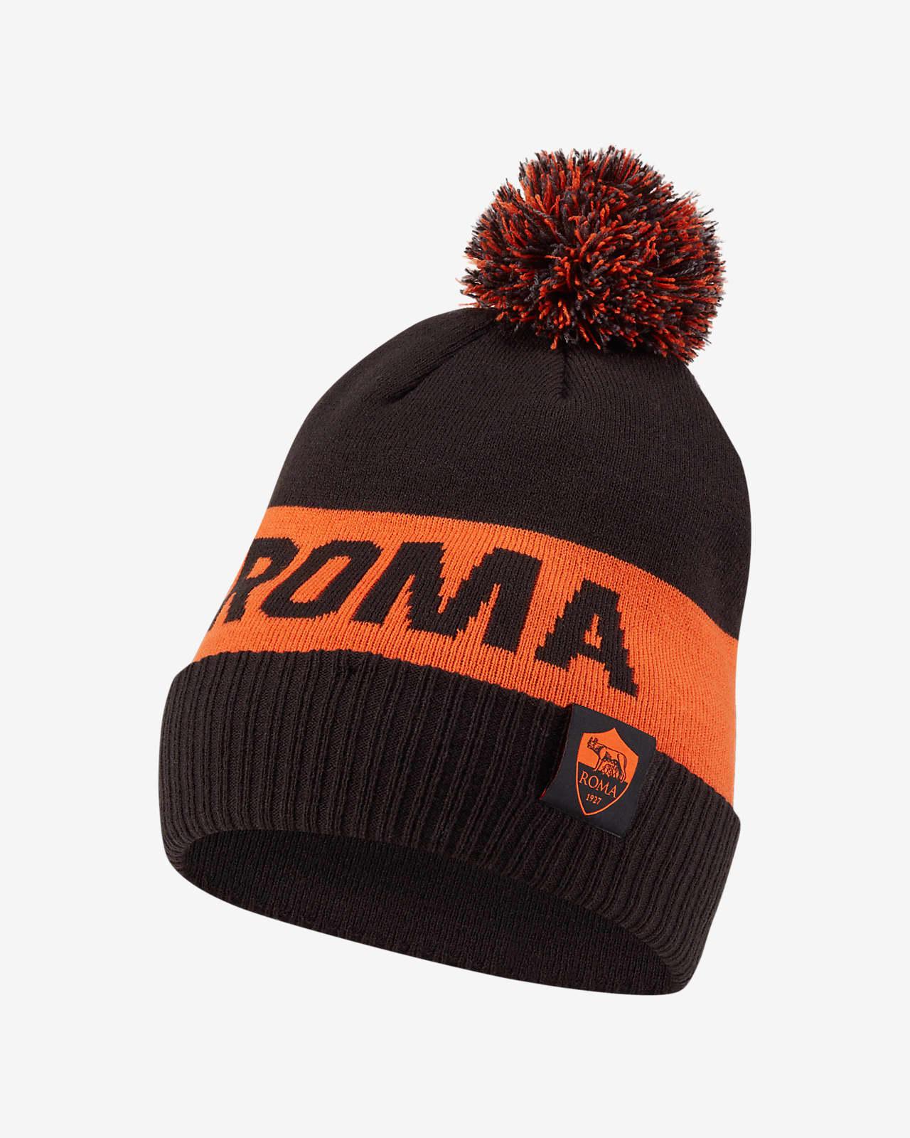 AS Roma Beanie met pompon