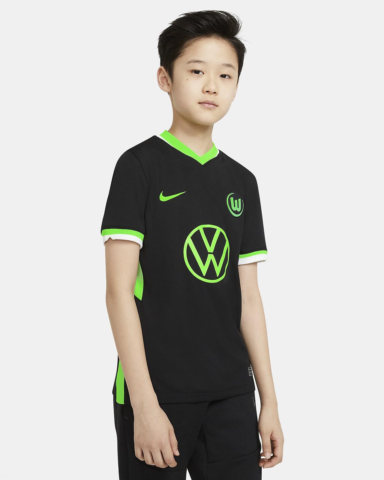 Camiseta de fútbol para niños talla grande de visitante Stadium del VfL Wolfsburg 2020/21