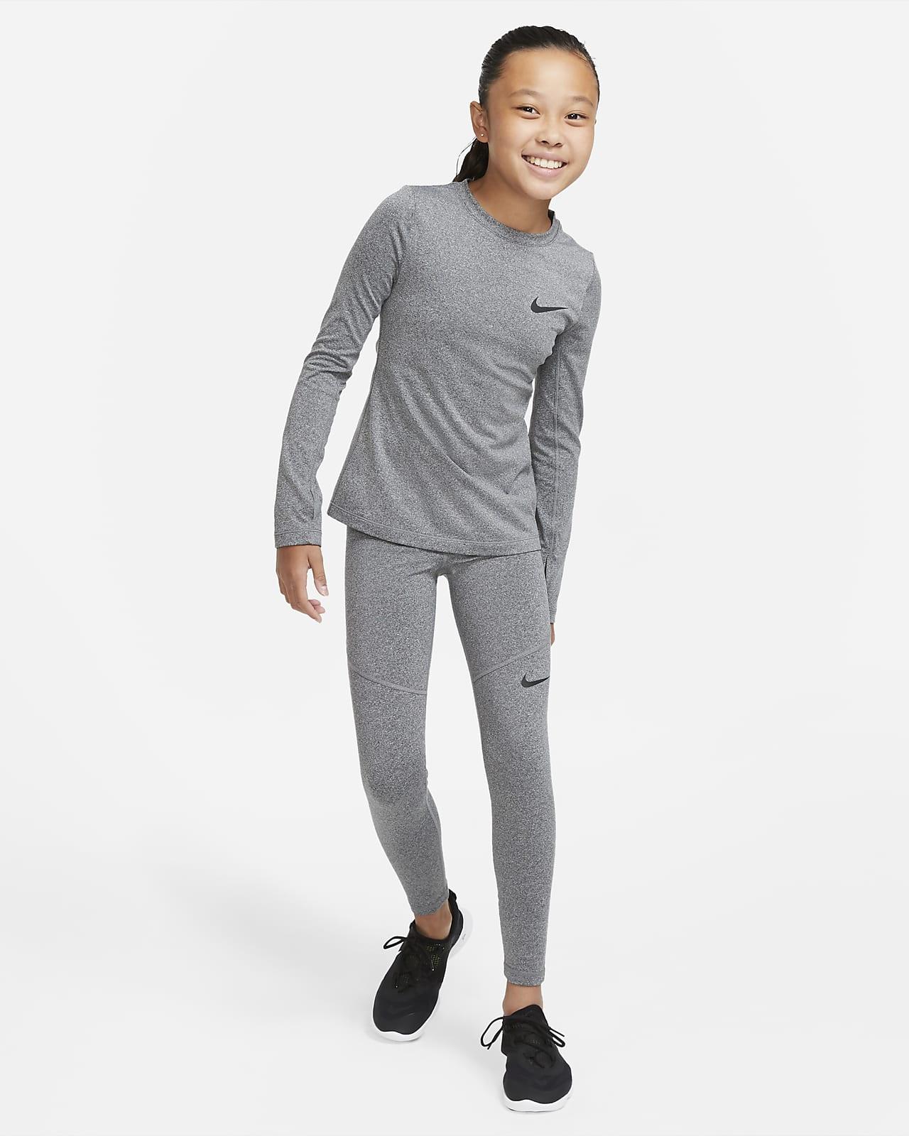 Nike Pro Warm Big Kids' (Girls') Long-Sleeve Top