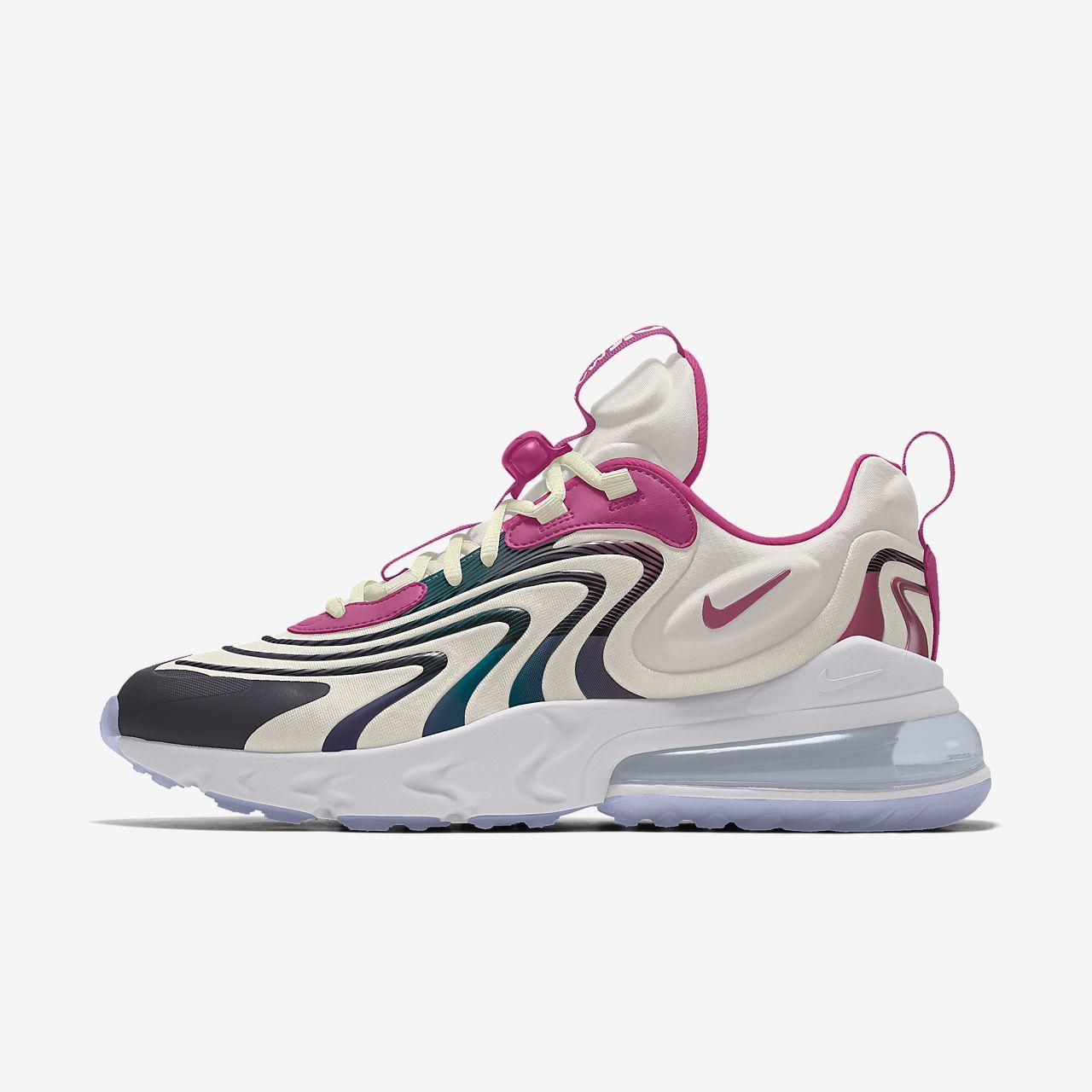 Nike Air Max 270 React ENG Premium By You Custom Lifestyle Shoe