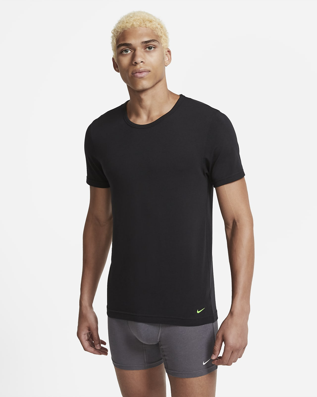 Nike Luxe Cotton Modal Men's Slim Fit Crew-Neck Undershirt (2-Pack)