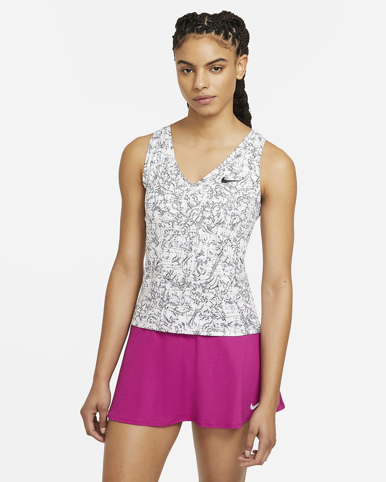 Camiseta de tirantes de tenis estampada para mujer NikeCourt Victory