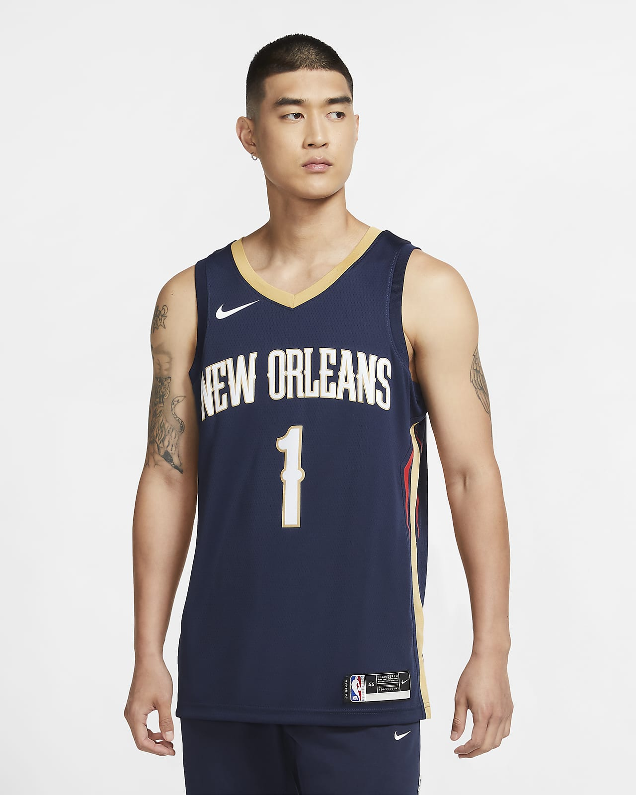 เสื้อแข่ง Nike NBA Swingman Zion Williamson Pelicans Icon Edition 2020