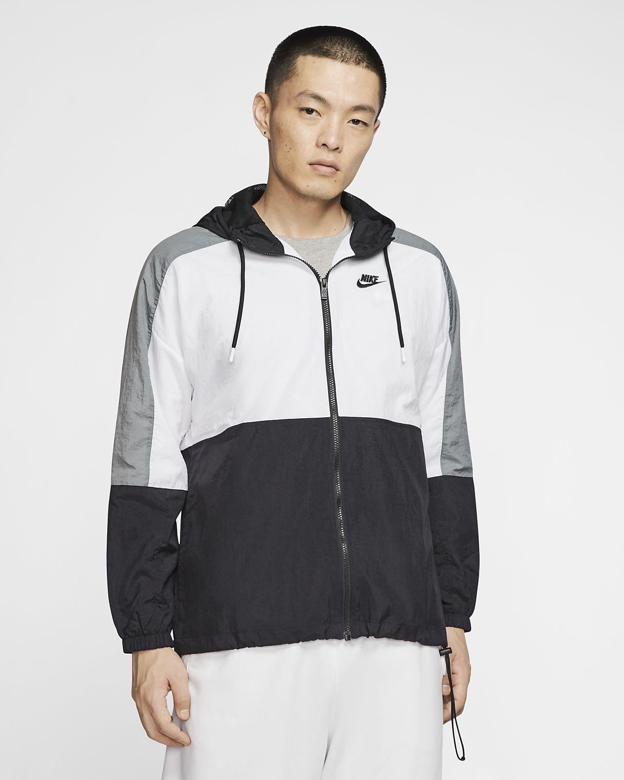 Męska kurtka z tkaniny z kapturem Nike Sportswear