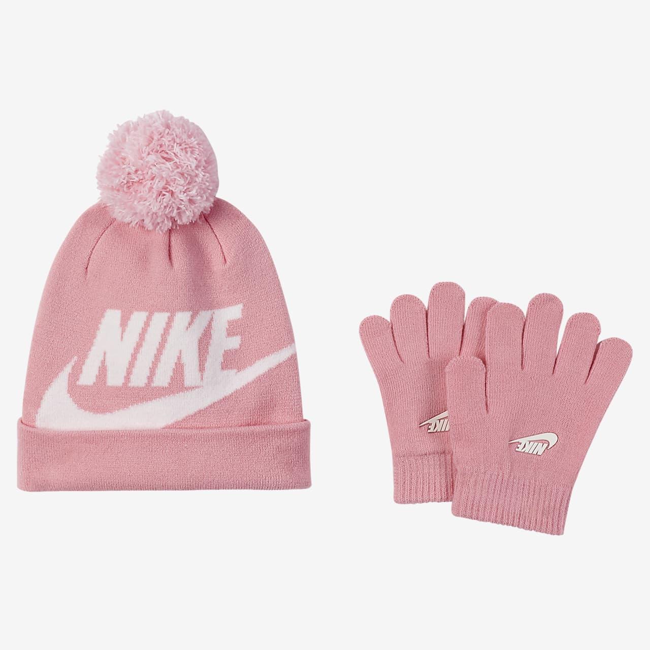 Dvoudílná souprava čepice a rukavic Nike pro menší děti