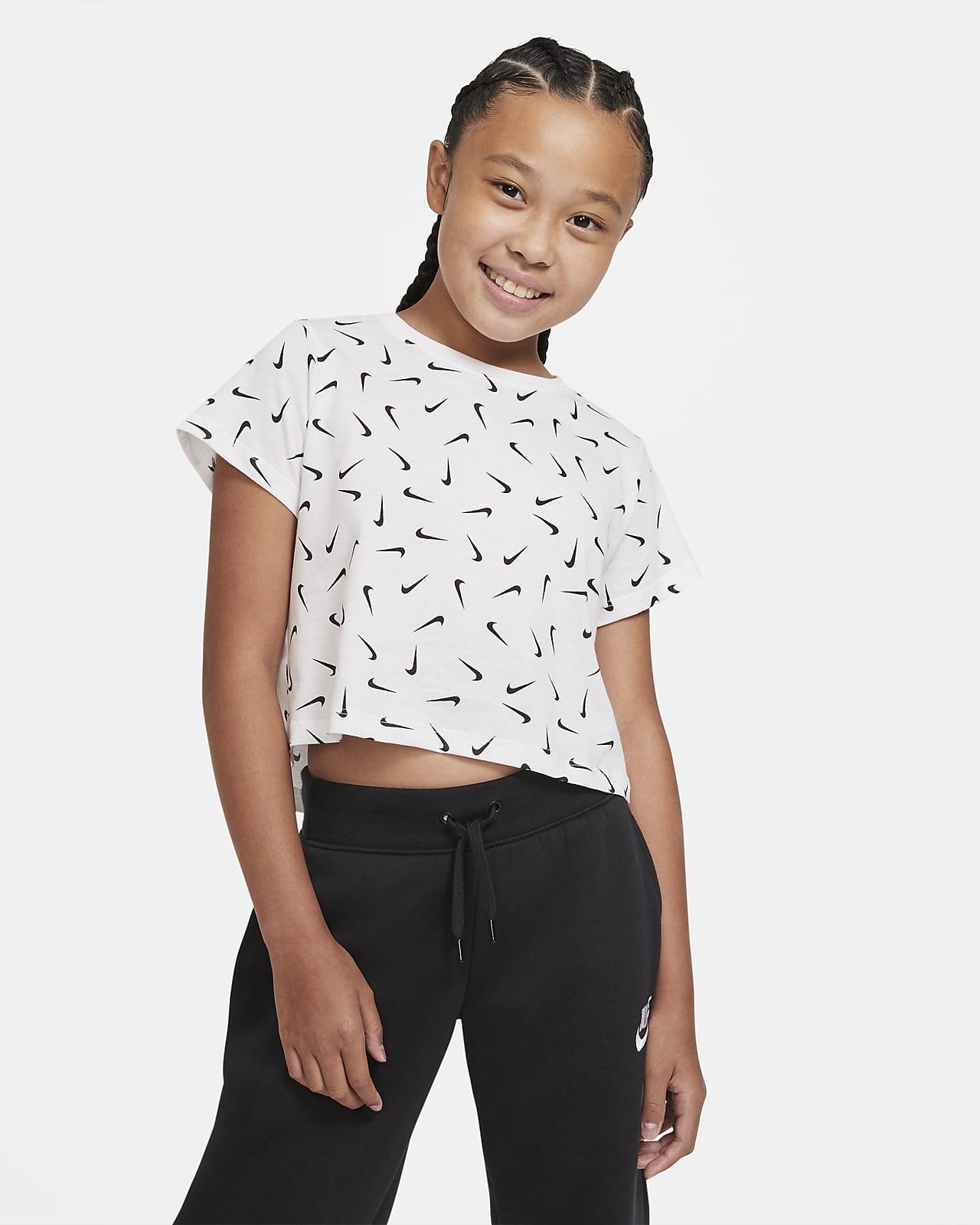 Nike Sportswear Older Kids' (Girls') Cropped T-Shirt