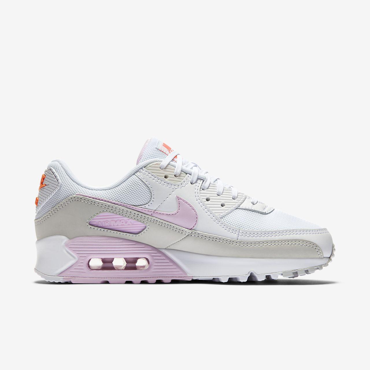 nike womens air max 90 white grey pink