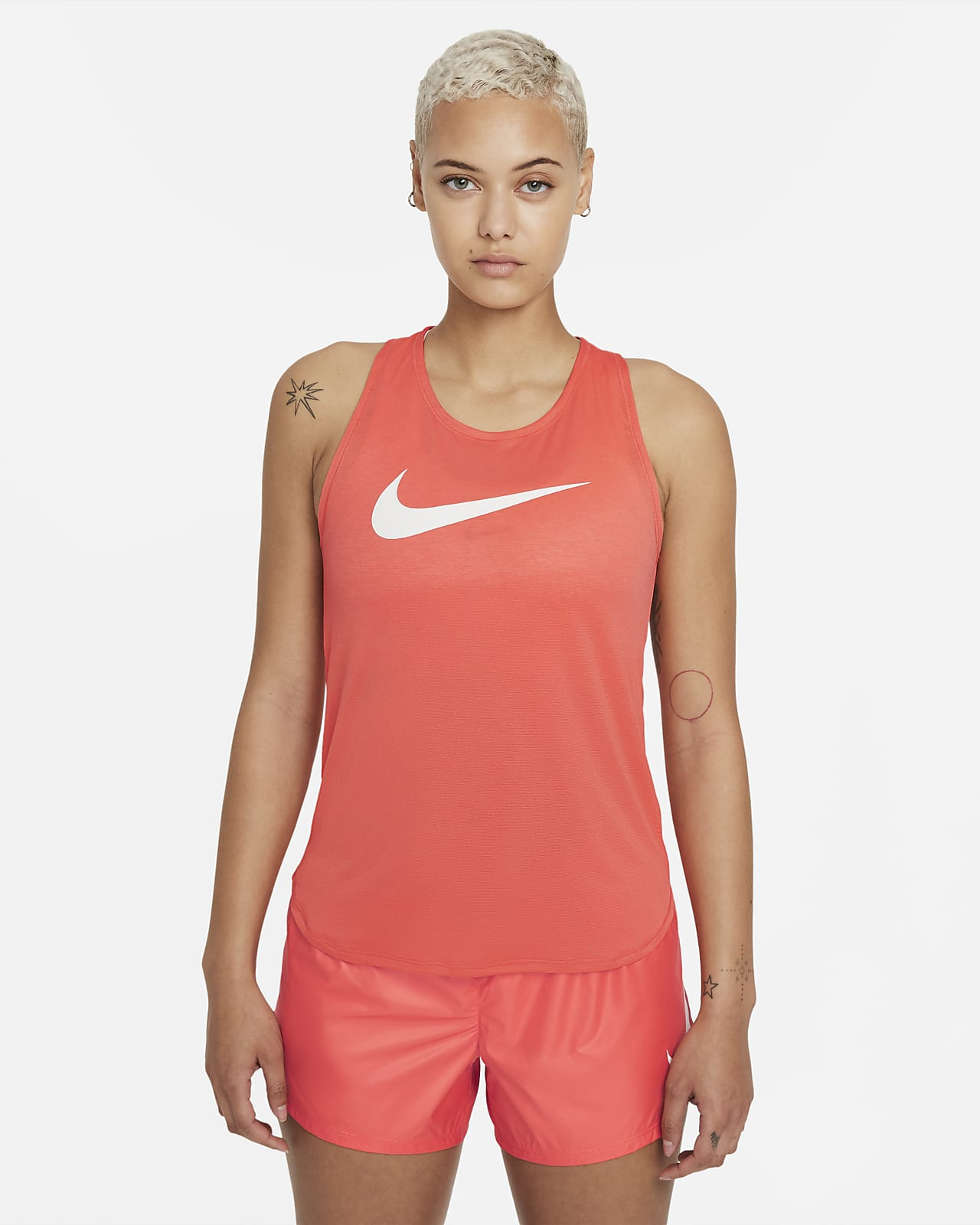 Camiseta de tirantes de running para mujer Nike Swoosh Run