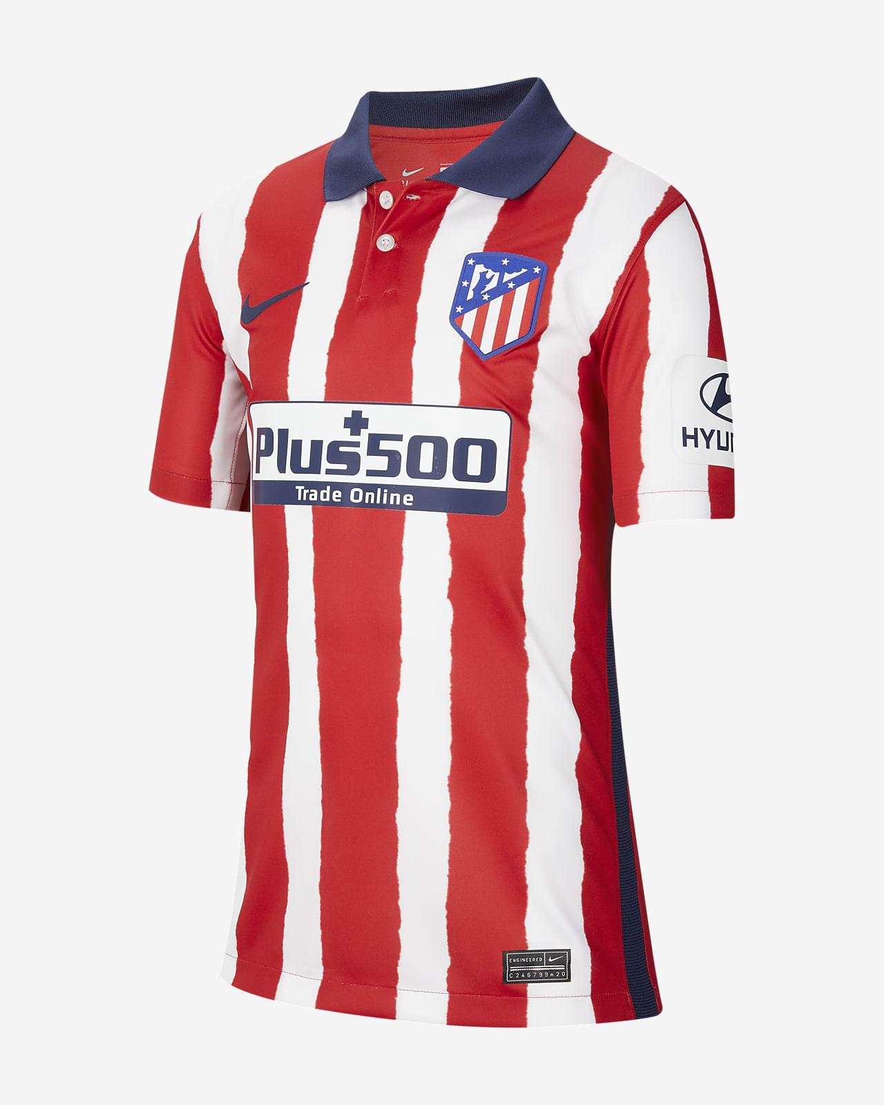Koszulka piłkarska dla dużych dzieci Atlético Madryt Stadium 2020/21 (wersja domowa)