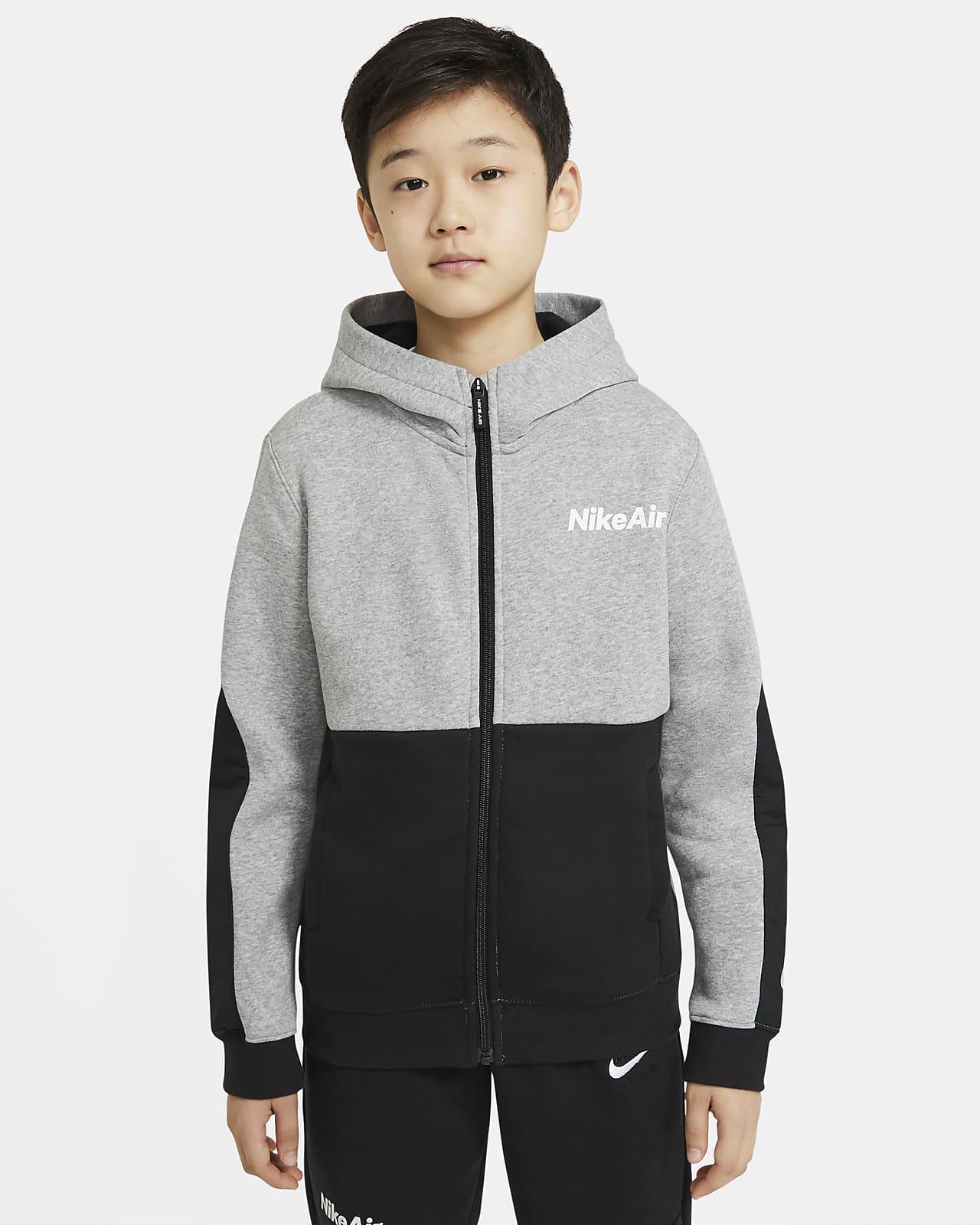 Nike Air - hættetrøje med lynlås til store børn (drenge)
