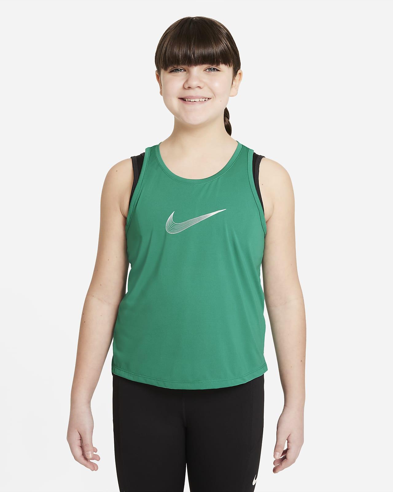 Camiseta de tirantes de entrenamiento para niñas talla grande Nike Dri-FIT Trophy (talla extendida)