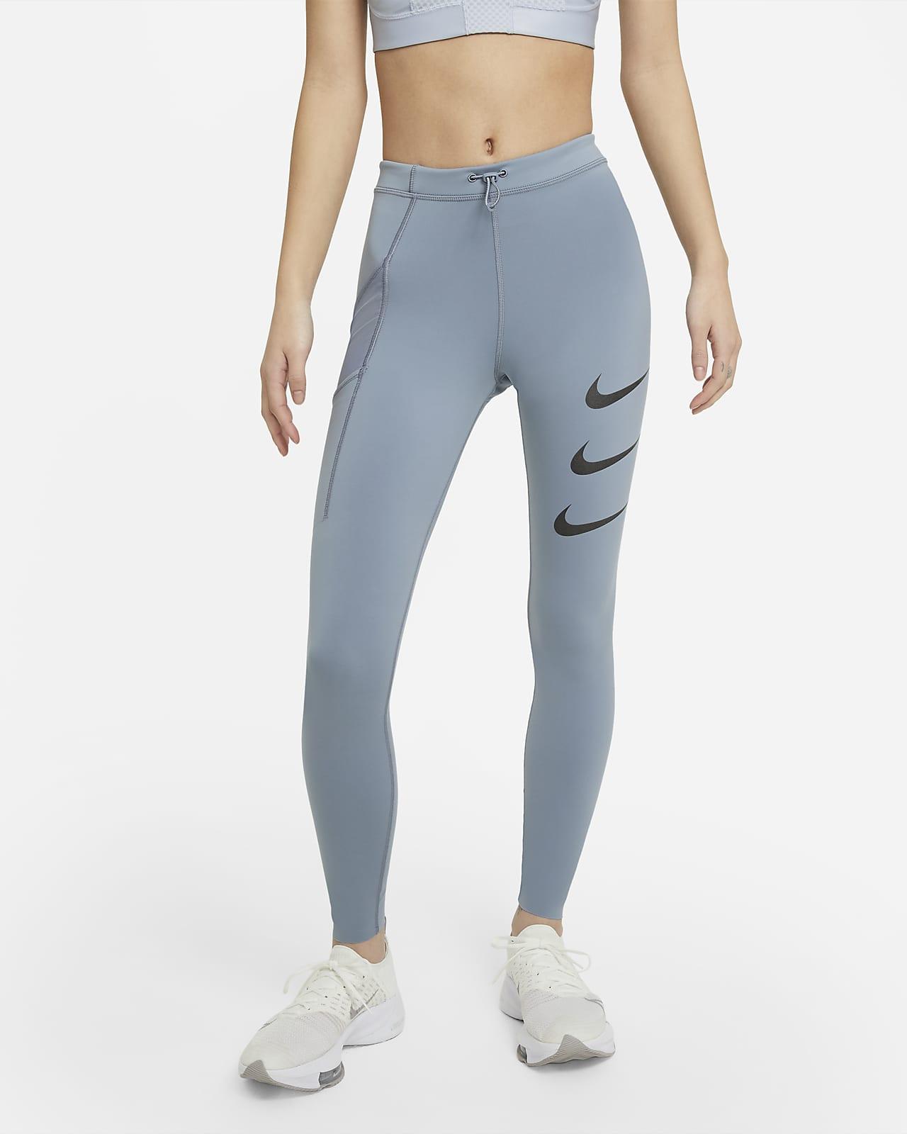 เลกกิ้งวิ่งเอวปานกลางผู้หญิง Nike Epic Luxe Run Division