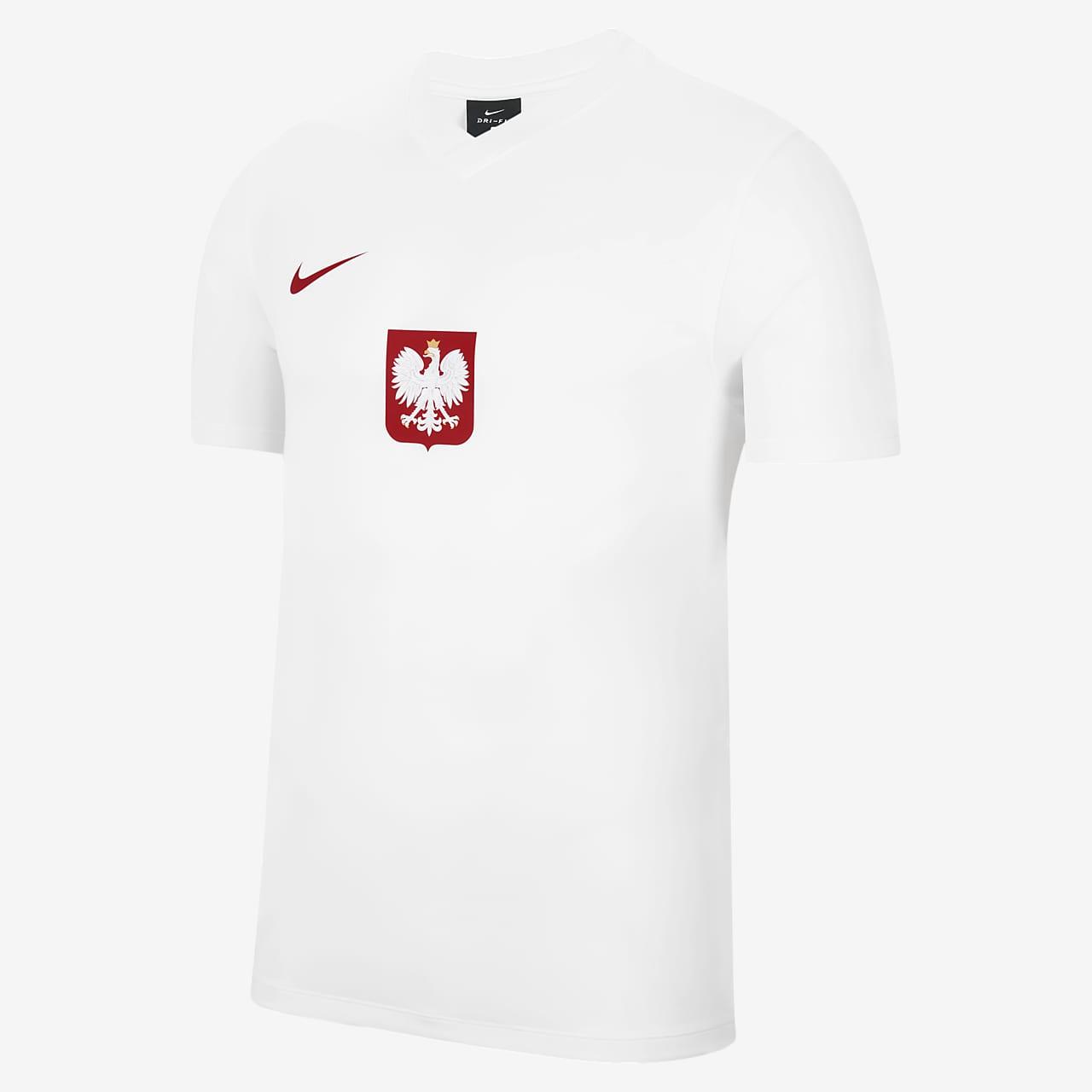 Polen Home/Away Kurzarm-Fußballoberteil für Herren