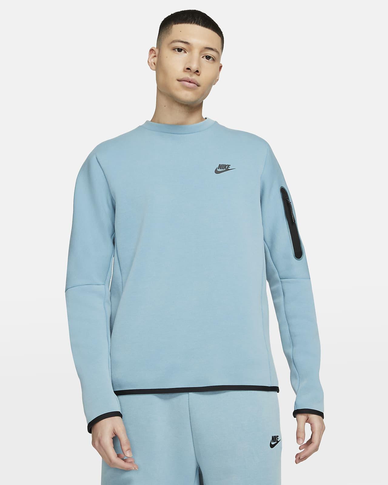 Sudadera desteñida de cuello redondo para hombre Nike Sportswear Tech Fleece