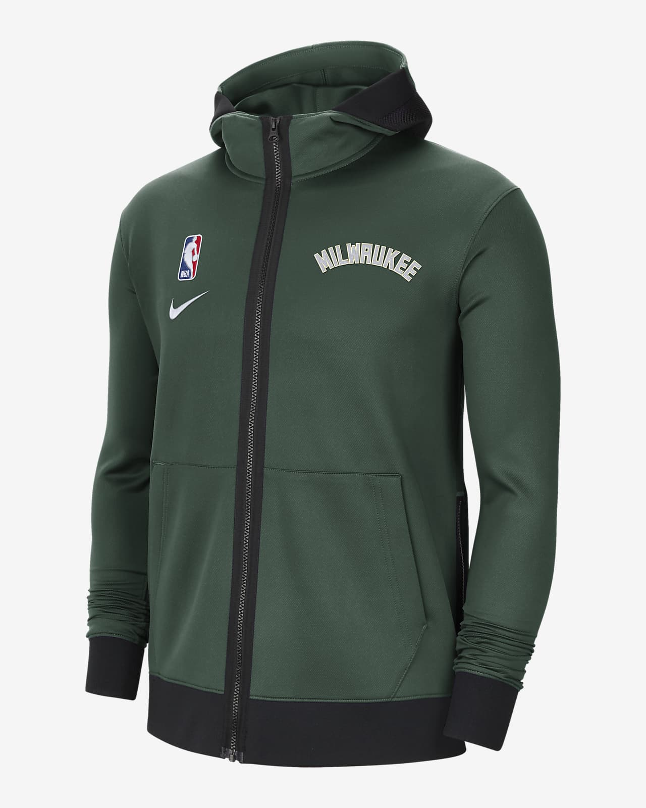 NBA-huvtröja Milwaukee Bucks Showtime Nike Therma Flex för män