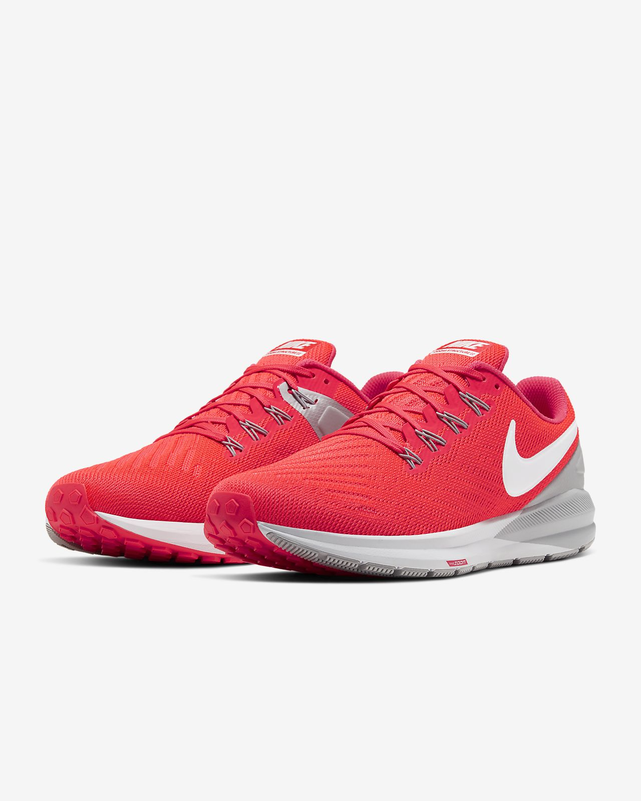 Nike Air Zoom Structure 22 Men's Running Shoes Laser Crimson