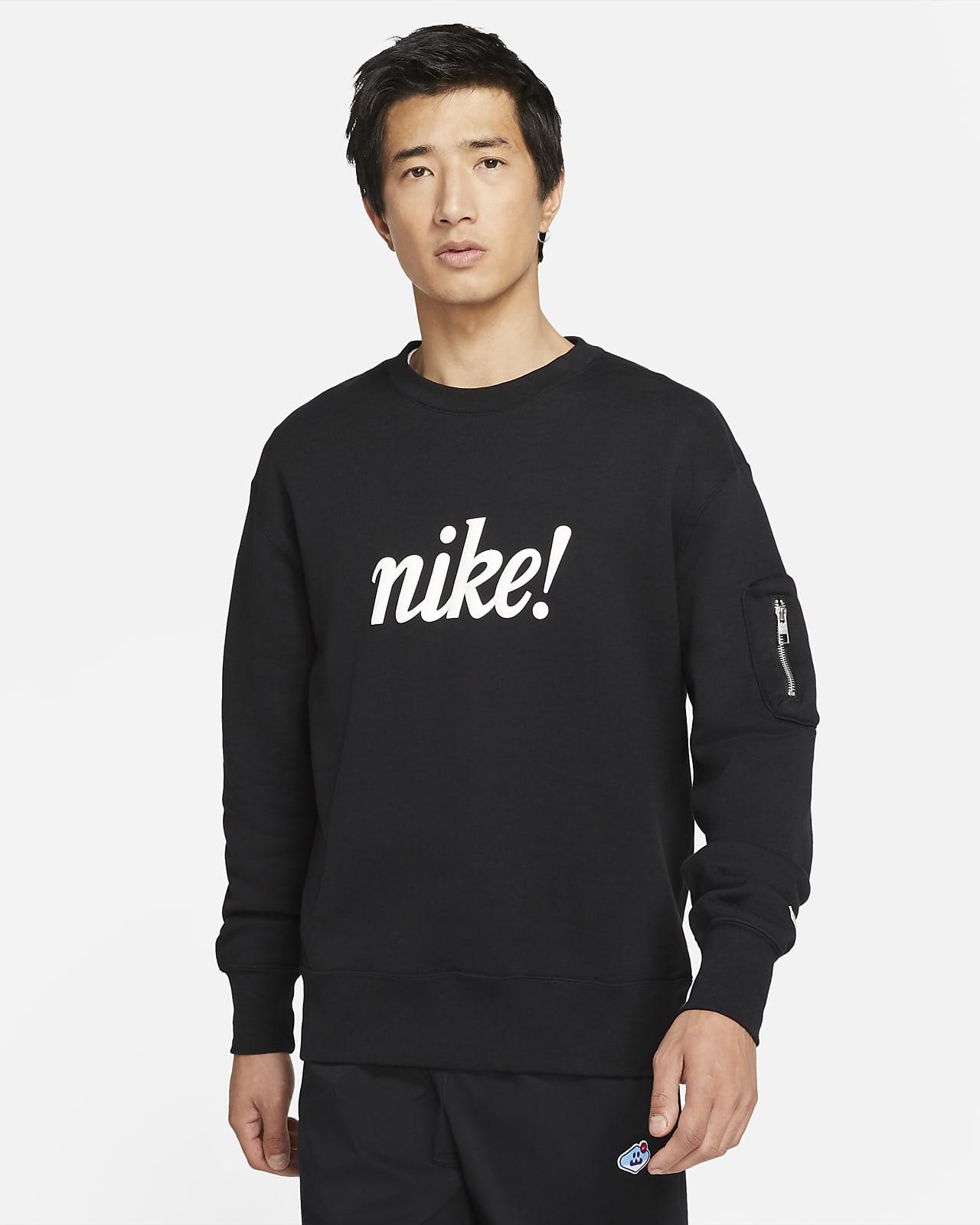 เสื้อคอกลมผ้าเฟรนช์เทรีผู้ชาย Nike Sportswear