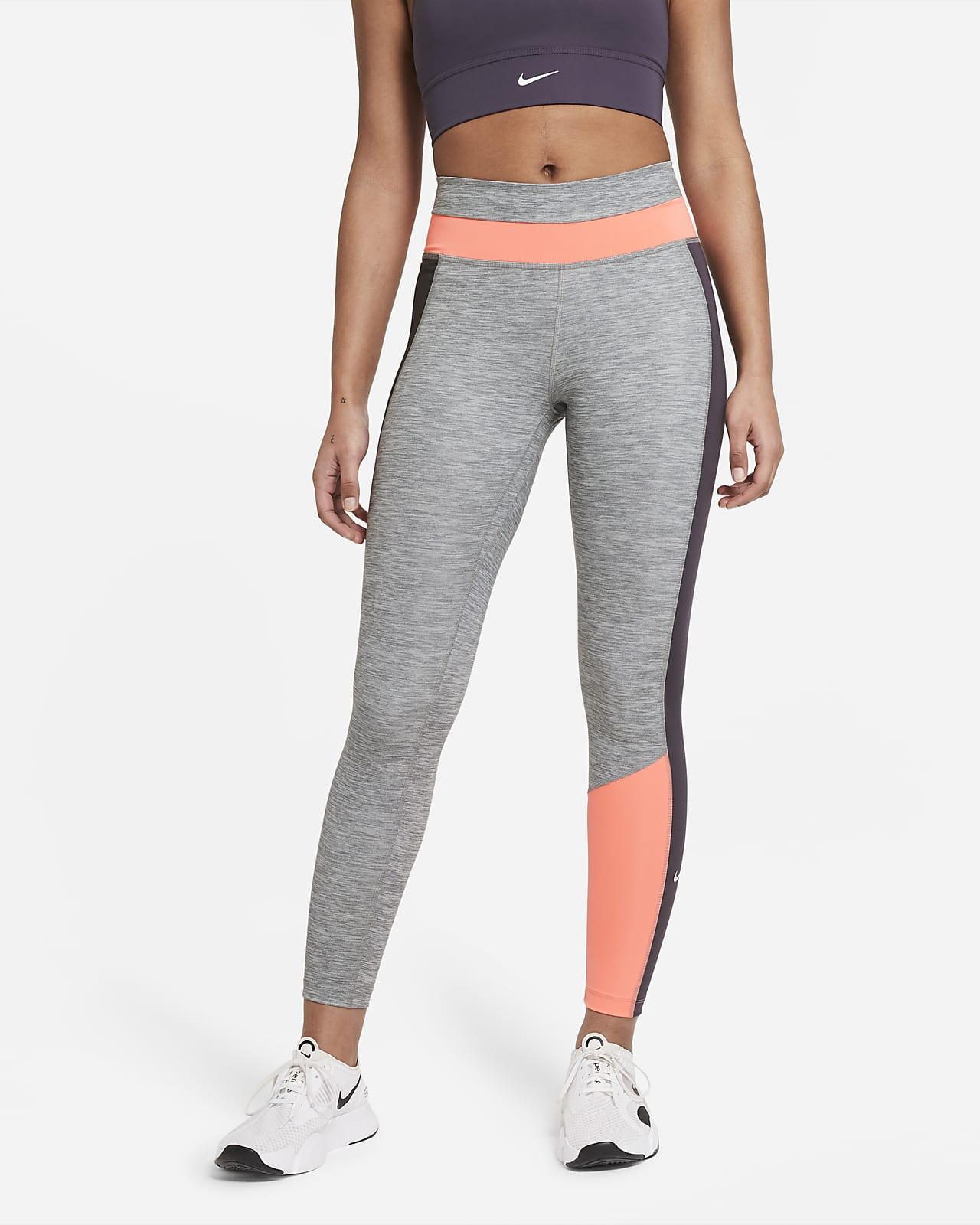 Leggings a 7/8 de cintura normal com blocos de cor Nike One para mulher