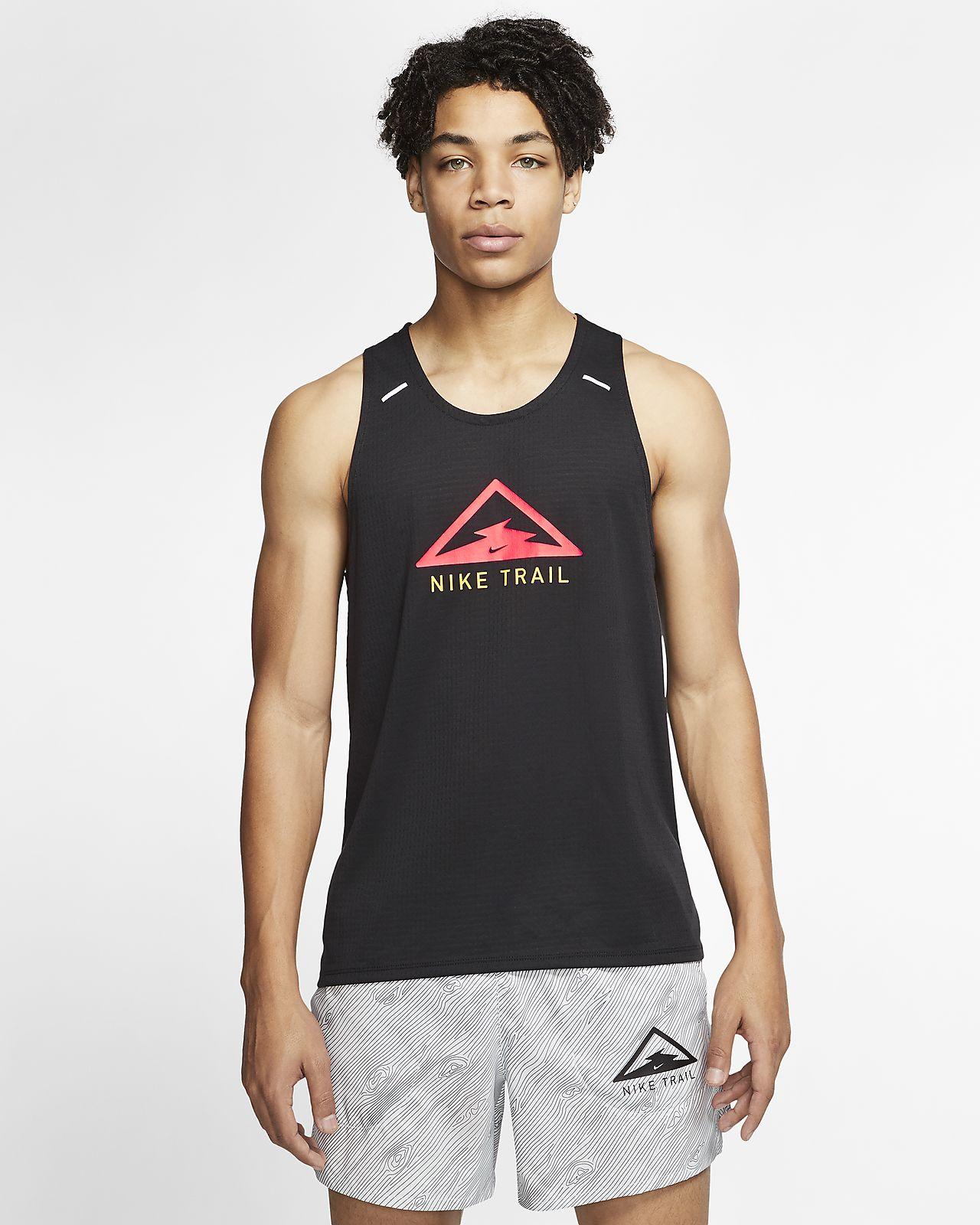 Camiseta de tirantes de trail running para hombre Nike Rise 365