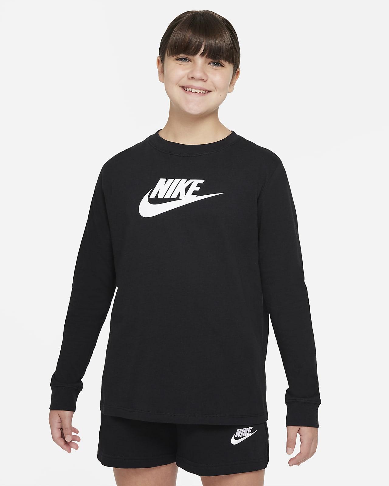 Playera de manga larga para niñas talla grande (talla extendida) Nike Sportswear