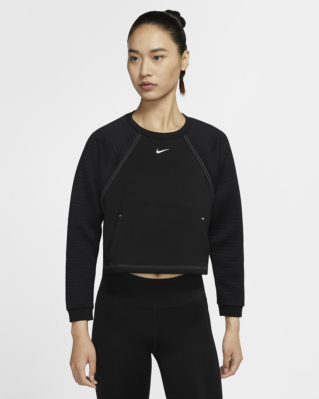 Camisola de lã cardada Nike Pro para mulher