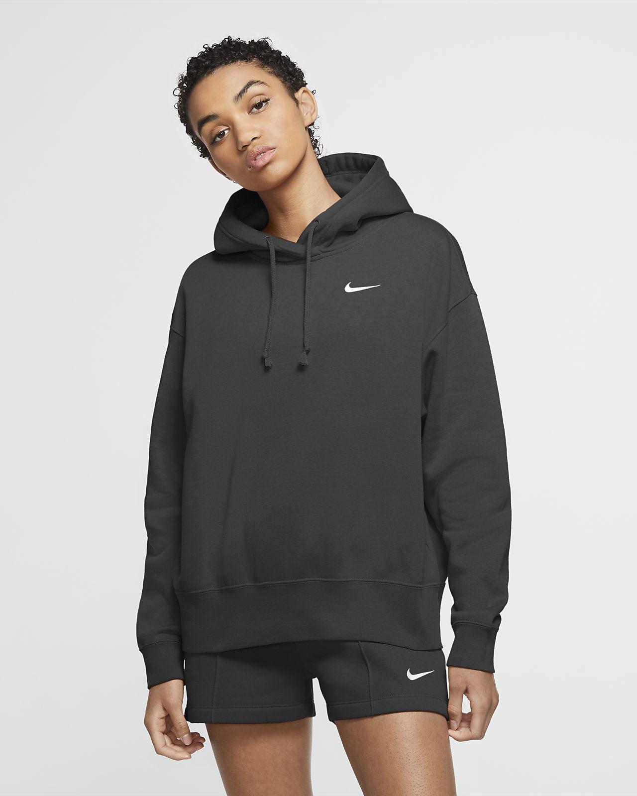 Nike Sportswear-fleecehættetrøje til kvinder