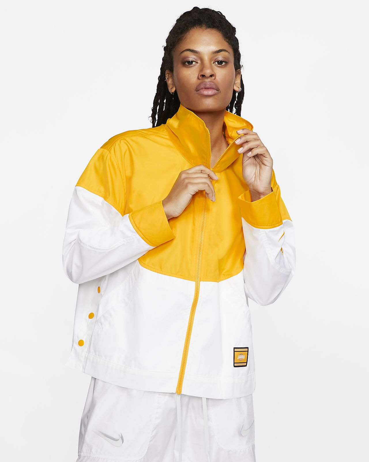 Lakers Courtside City Edition Women's Nike NBA Snap Jacket