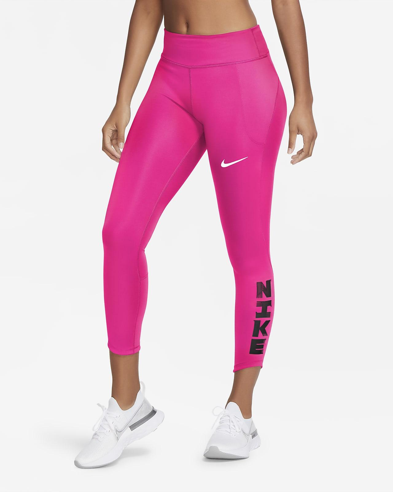 Nike Icon Clash Fast–løbetights til kvinder, 7/8 længde