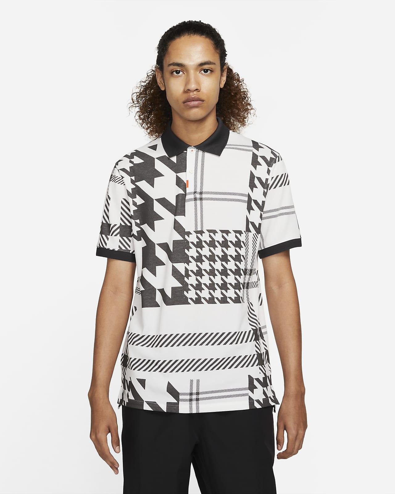 The Nike Polo Herren-Poloshirt in schmaler Passform mit Karomuster