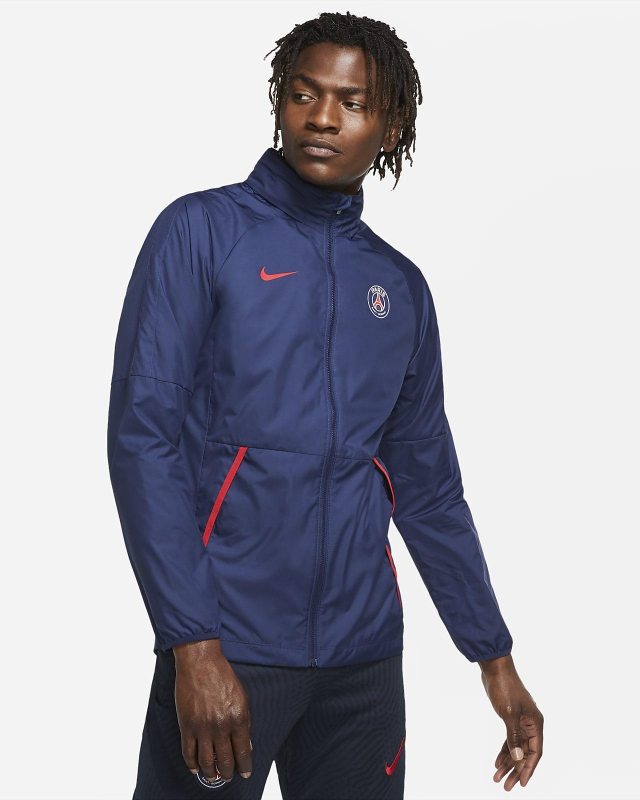 Ανδρικό ποδοσφαιρικό τζάκετ με σχέδιο Paris Saint-Germain Repel