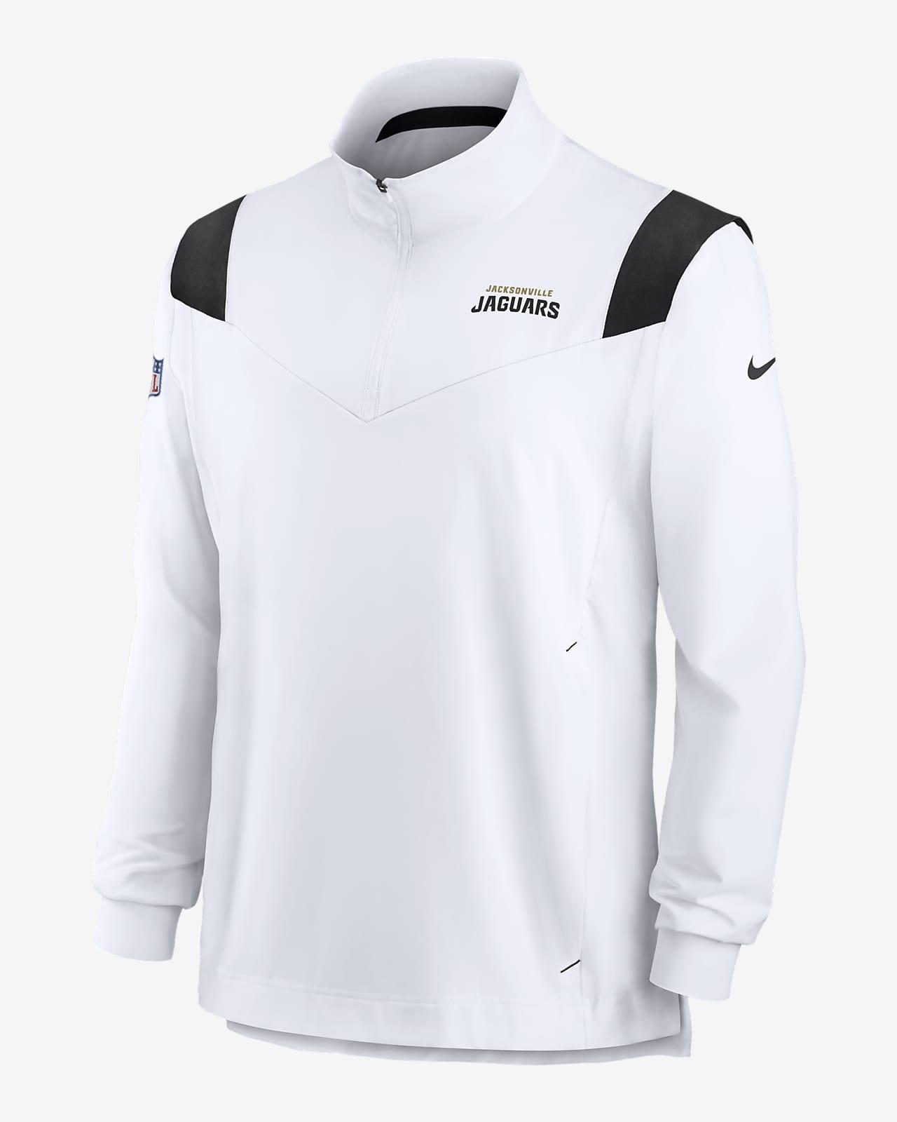 Chamarra con cierre de 1/4 para hombre Nike Sideline Coaches Repel (NFL Jacksonville Jaguars)