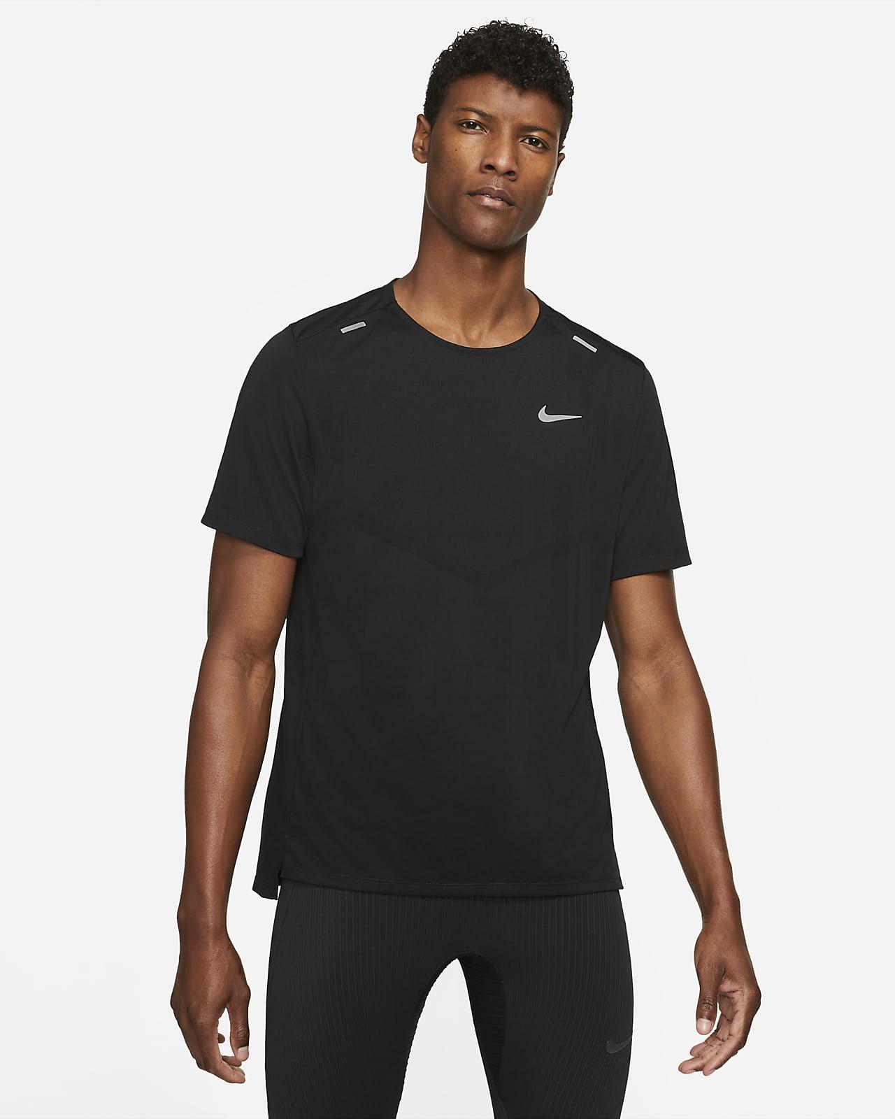 Nike Dri-FIT Rise 365 Hardlooptop met korte mouwen voor heren