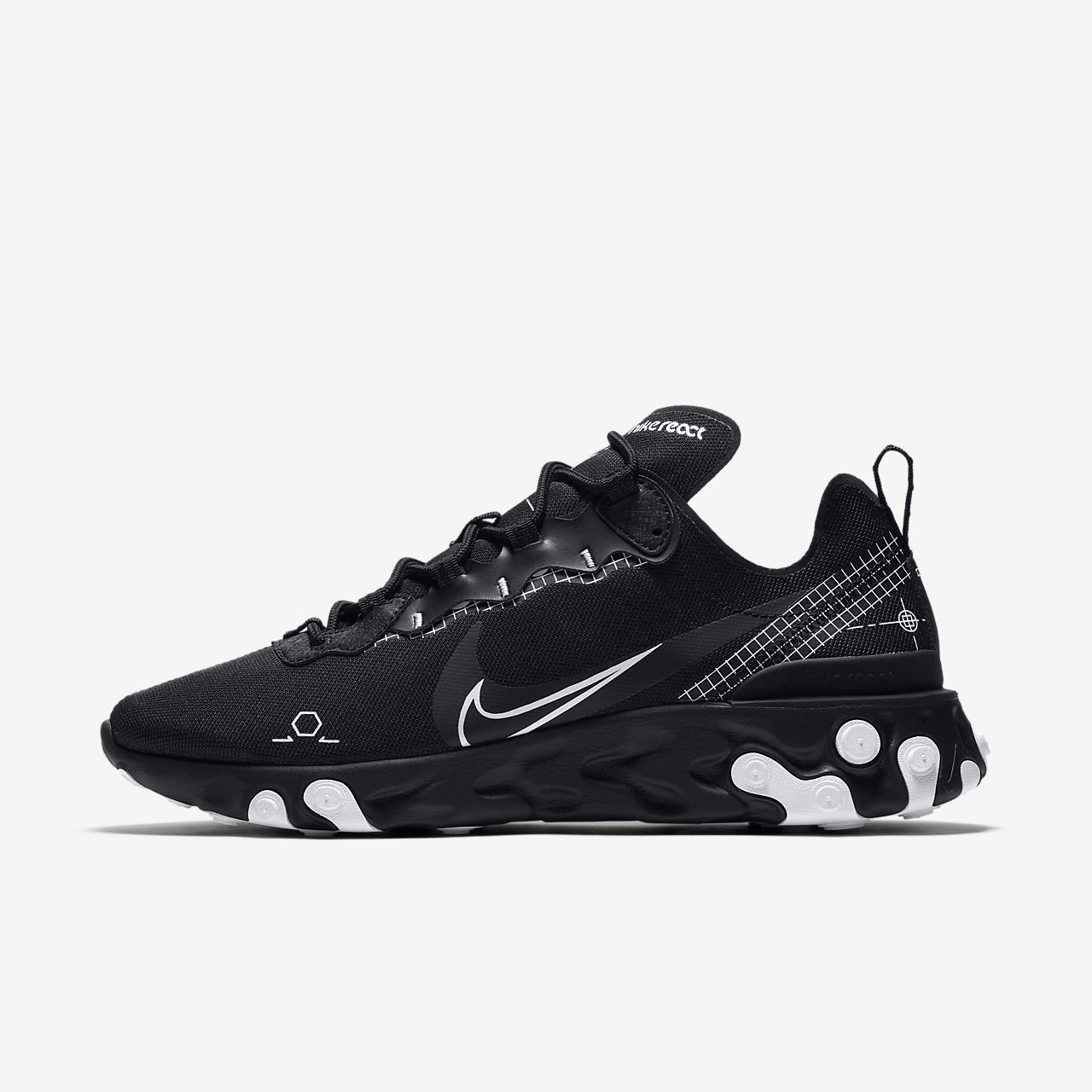 Nike Nike React Element 55 Se (Nero) - Sneakers