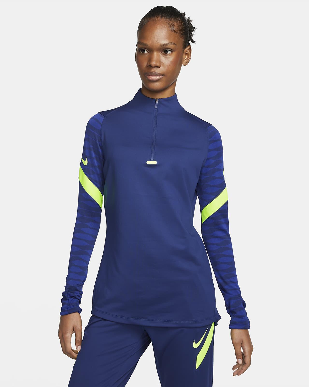 Haut d'entraînement de football à 1/4 de zip Nike Dri-FIT Strike pour Femme