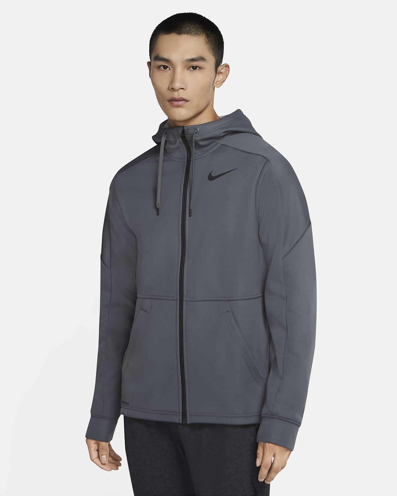 Nike Therma 男子全长拉链开襟训练连帽衫