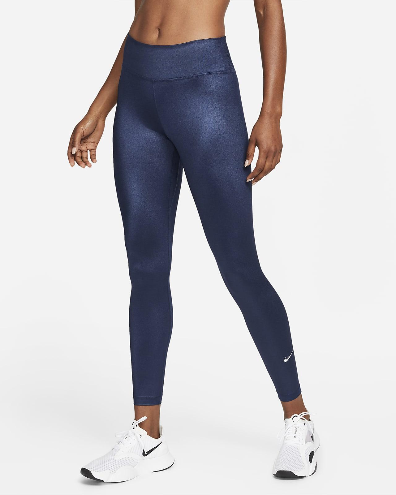 Nike Dri-FIT One Women's Mid-Rise Shine Leggings