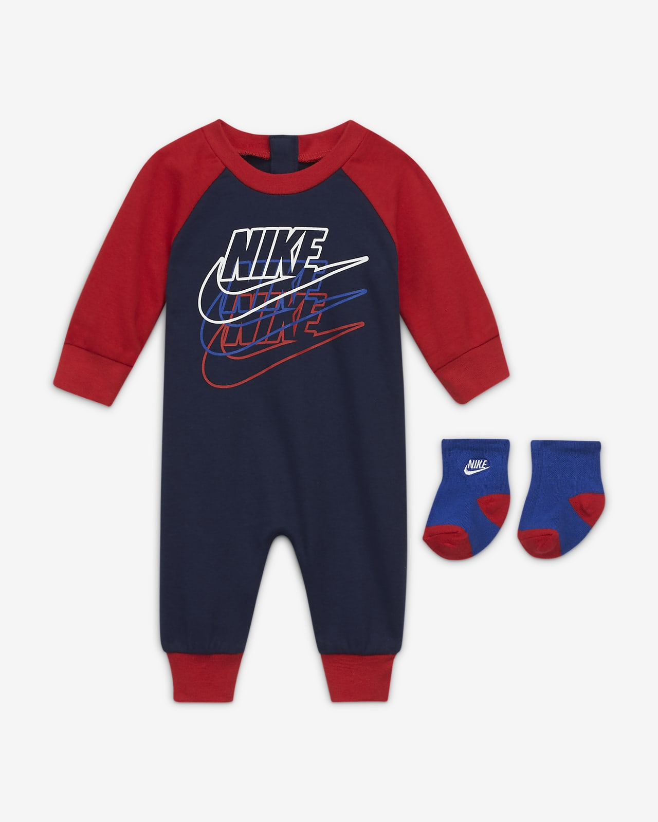 Nike Baby (0-9M) Coverall and Socks Set