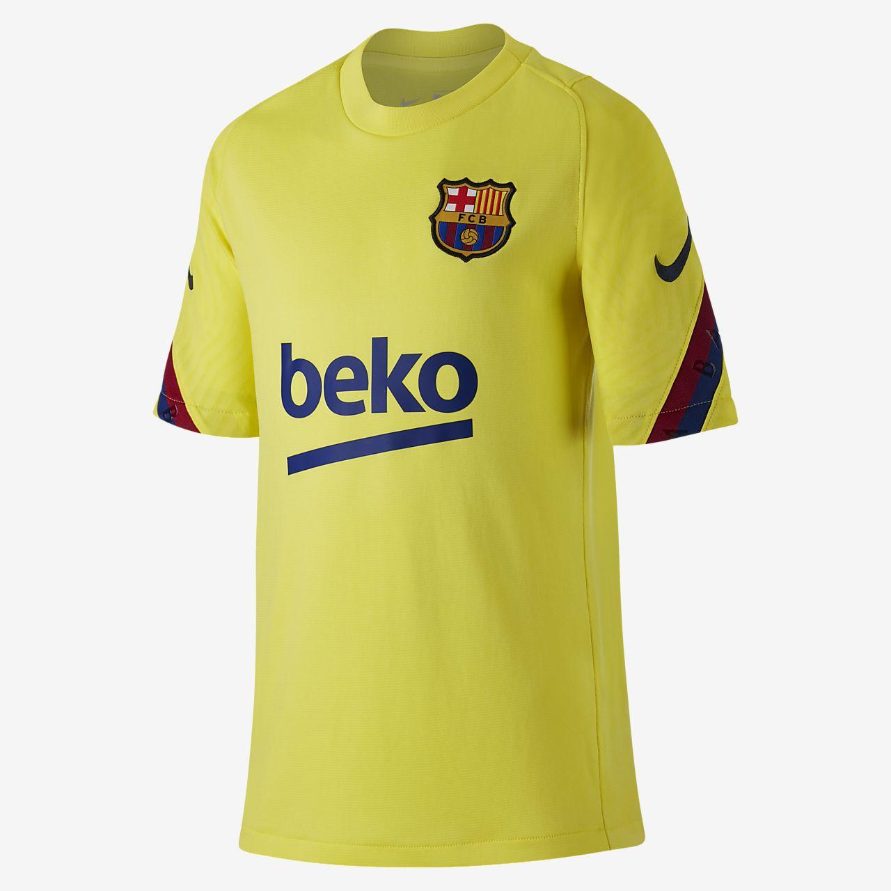 FC Barcelona Strike rövid ujjú futballfelső nagyobb gyerekeknek