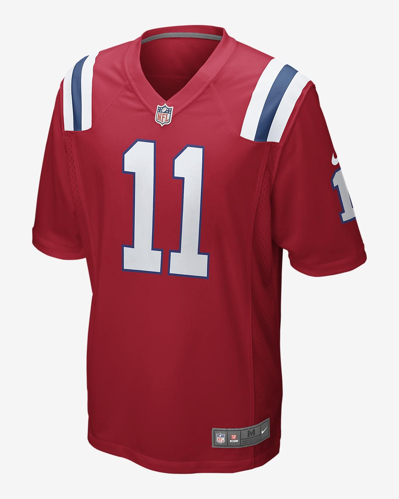 NFL New England Patriots (Julian Edelman) Men's Game Football Jersey
