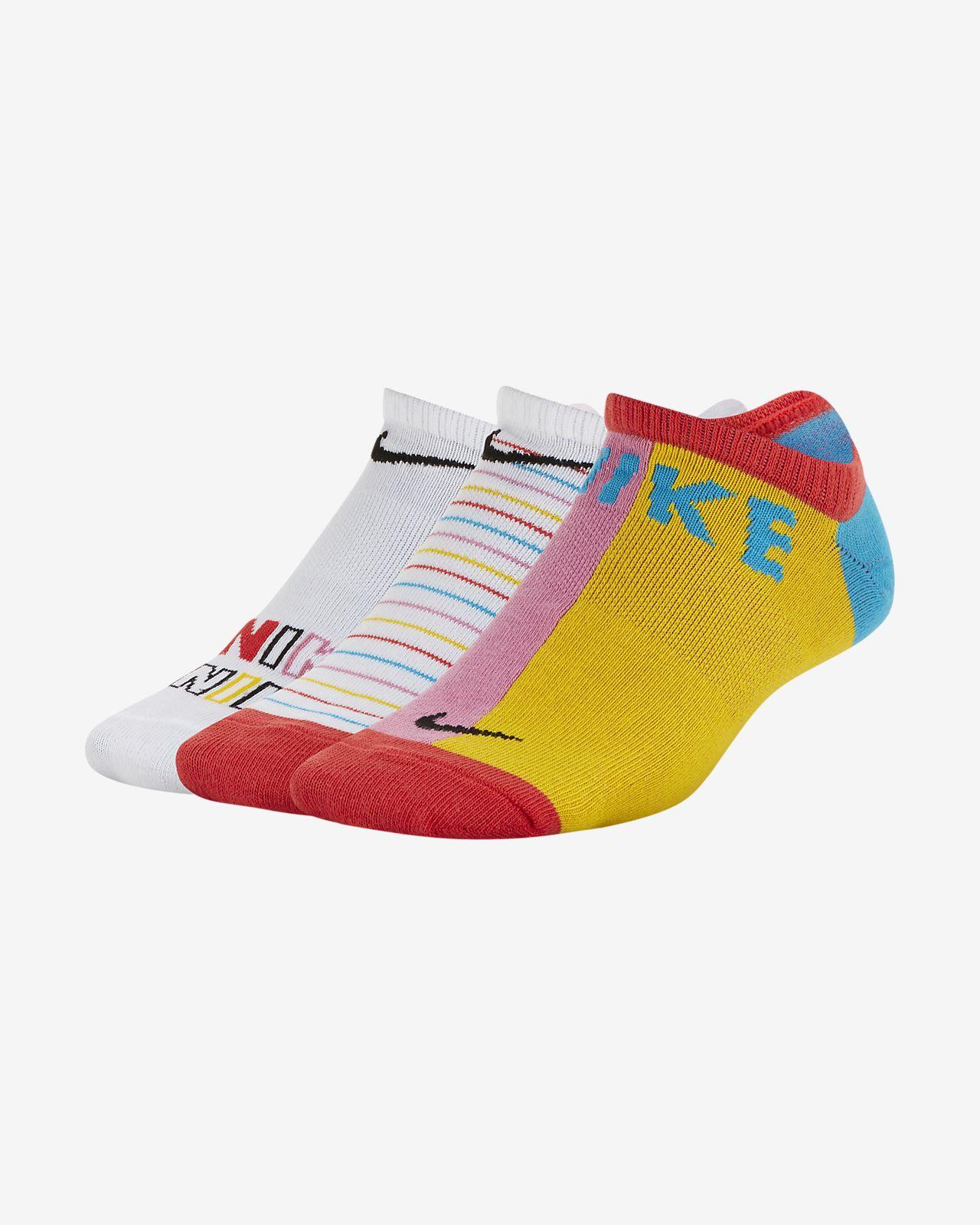 3 Pair Kids Nike Performance Lightweight No-Show Sock 3Y-5Y
